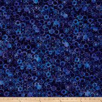 Bali Batiks Handpaints Hexagons Salvia