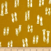 Cotton + Steel Cat Lady Kitten Mittens Mustard