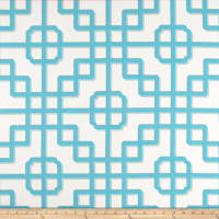 P Kaufmann Indoor/Outdoor Imperial Gate Turquoise