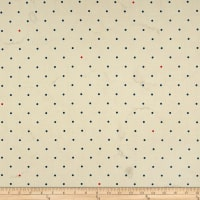 Cotton & Steel Bluebird Tea Stained Dots Ivory