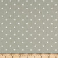 Premier Prints Mini Star Twill Snowy Grey/White