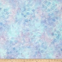 Wilmington Batik Dancing Leaves Little Blue/Purple