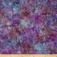 Wilmington Batik Flower Field Purple
