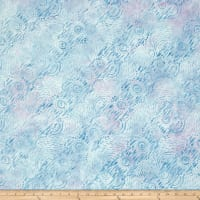Wilmington Batik Dynamic Circles  Sky Blue