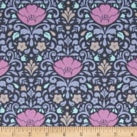 Ethereal Floral Damask Midnight