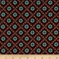 Kaufman Woodland Clearing Geo Plaid Brown