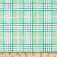 Nursery Plaid Flannel Mint