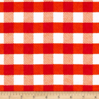 Flannel Gingham Plaid Orange