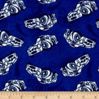 Flannel Race Car Blue