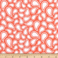 Flannel Simple Paisley Grapefruit