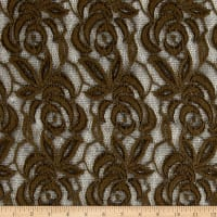 Floral Lace Embroidery Deep Olive