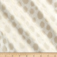 Mesh Polka Dot White/Gold