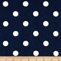 Premier Prints Polka Dot Blue/White