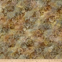 Wilmington Batiks Dynamic Circles Light Brown