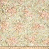 Wilmington Batiks Curling Leaves Ivory/Pink