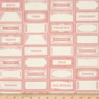 Riley Blake Farm Girl Canning Labels Pink
