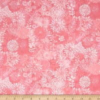 "44"" Wide Quilt Packed Floral Pink"
