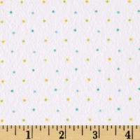 Ric Rac Paddywack Flannel Blue Multi Dot