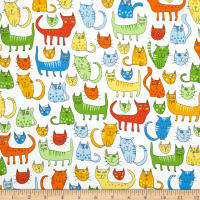 Kaufman Doodle Pop Funny Cats Primary