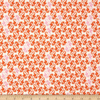 Heather Ross Mendocino Sea Horses Cream-Orange