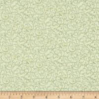 Chickadees & Berries Metallic Winter Scroll Mint