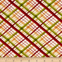 Leaf Into Autumn Plaid Cream