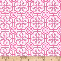 Bahama Breeze Trendy Trellis White/Pink