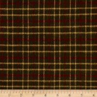 Primo Flannel Christmas Window Pane Green