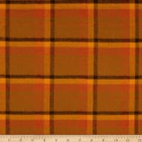 Primo Flannel Harvest Large Plaid Orange
