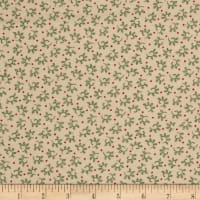 Cozies Flannel Christmas Leaves Green