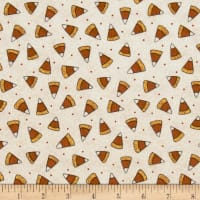 Pumpkin Party Flannel Candy Corn Cream