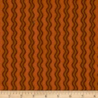 Pumpkin Party Flannel Stitched Stripe Orange