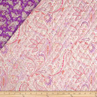 Montego Bay Double Sided Quilted Parsley Floral Lavender