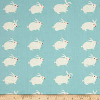 Birch Organic Wonderland White Rabbit Aqua