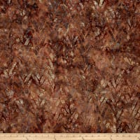Bali Batiks Handpaints Linear Leaf Cedar