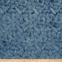 Island Batik French Roasted Leaf Vein Grey/Blue