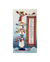 My Precious Quilt Snowman Banner 24 In. Panel Cream