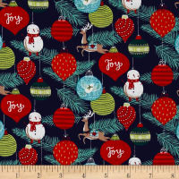 25 Days of Christmas Toile Dark Gray