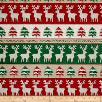 Craft Paper Christmas Reindeer Stripe Multi