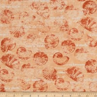 Sea Cottage Large Toss Shells & Words Light Orange