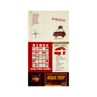 Road Trip Words Large 23 In. Panel Light Butter