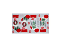 Holiday Traditions Stocking 24 In. Panel Red & Gray