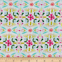 Blush & Blooms Floral Stripe Aqua
