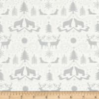 Lewis & Irene Northern Lights Metallic Northern Silhouettes White