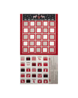 When I  Met Santa's Reindeer Advent Calendar 24 In. Panel Black