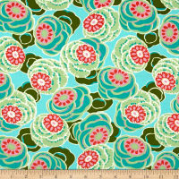 Amy Butler Dream Weaver Clouded Floral Seagl