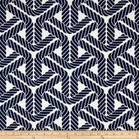Waverly Sun N Shade Topsail Trellis Navy