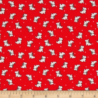 Storybook Christmas Scotties Red