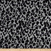 Telio Dakota Stretch Rayon Jersey Knit Cheetah Print Black/Grey