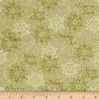 Winter Bliss Snowflake Green